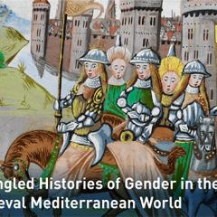 Picture of women in medieval times with castle in background