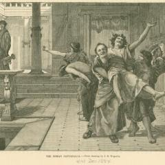 Photogravure of a drawing depicting Saturnalia; Image by John Reinhard Weguelin, Public domain, via Wikimedia Commons