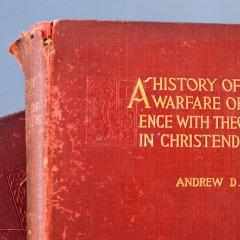 cover of book 'A History of the Warfare of Science with Theology in Christendom' by Andrew D. White; Image courtesy of Dr Edward B. Davis
