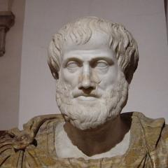 Image: bust of Aristotle, preserved in in Palazzo Altemps, Rome; photographed by Giovanni Dall'Orto, via Wikimedia Commons