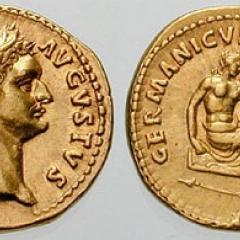 Roman coin: gold aureus of Domitian (81—96 CE); Image by Classical Numismatic Group, Inc. http://www.cngcoins.com [GFDL (http://www.gnu.org/copyleft/fdl.html), CC-BY-SA-3.0 (http://creativecommons.org/licenses/by-sa/3.0/) or CC BY-SA 2.5 (http://creativecommons.org/licenses/by-sa/2.5)], via Wikimedia Commons