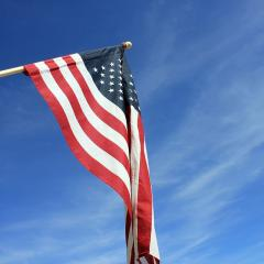 American flag; Image via Pixabay, CC0 Public Domain