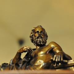bronze Plato statue; Image via Pixabay, CC0 Public Domain