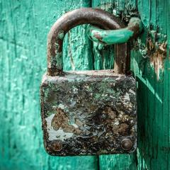 old lock on door; Image via Pixabay, CC0 Public Domain