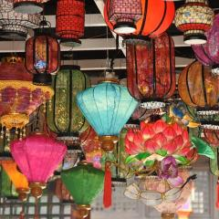 Chinese lanterns, colourful; Image via Pixabay, CC0 Public Domain