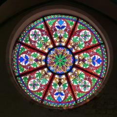 stained glass church window; Image via Pixabay, CC0 Public Domain