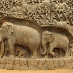 elephants stone monument; Image via Pixabay, CC0 Public Domain