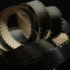 film reel, unravelled; Image via Pixabay, CC0 Public Domain