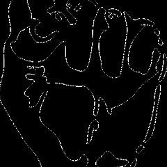 fist, black and white; Image via Pixabay, CC0 Public Domain