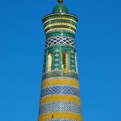 Khiva minaret; Image via Pixabay, CC0 Public Domain