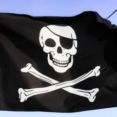 pirate flag, skull and crossbones; Image via Pixabay, CC0 Public Domain