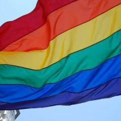 rainbow flag; Image via Pixabay, CC0 Public Domain