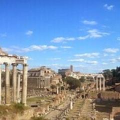 Roman ruins skyline; Image via Pixabay, CC0 Public Domain