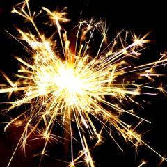 sparkler; Image via Pixabay, CC0 Public Domain