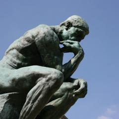 The Thinker; Image via Pixabay, CC0 Public Domain