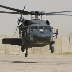 Blackhawk helicopter, Iraq; Image via Pixabay, CC0 Public Domain